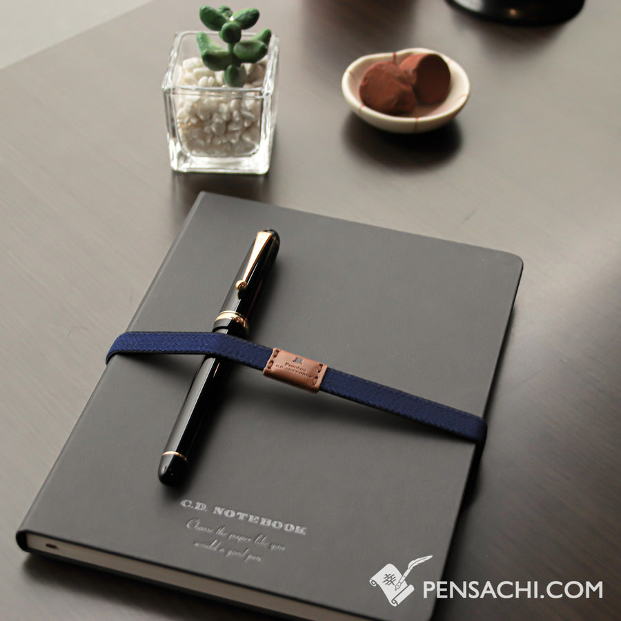 Premium C.D. Notebook A5 Black - 7mm Ruled - PenSachi Japanese Limited Fountain Pen