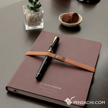 Premium C.D. Notebook A5 Wine Red - 5mm Graph - PenSachi Japanese Limited Fountain Pen