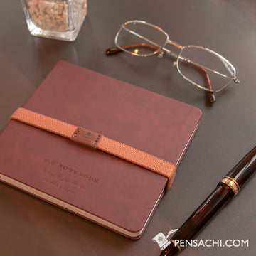 Premium C.D. Notebook Wine Red - Graph - PenSachi Japanese Limited Fountain Pen