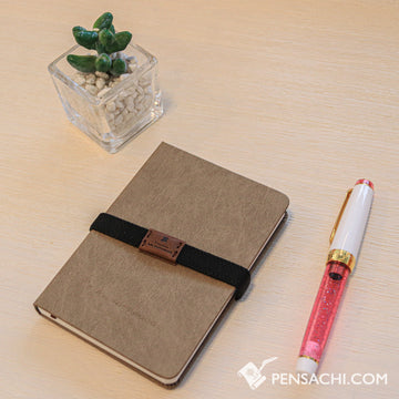 Premium C.D. Notebook B7 Beige -  5 mm Blank - PenSachi Japanese Limited Fountain Pen
