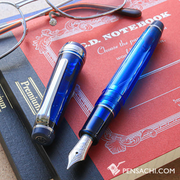 SAILOR Limited Edition Pro Gear Slim Demonstrator Fountain Pen - Blue Calm - PenSachi Japanese Limited Fountain Pen