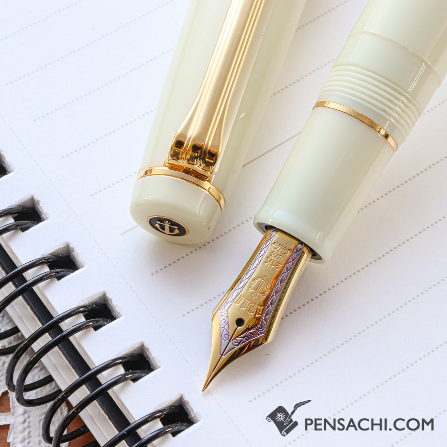 SAILOR Limited Edition Pro Gear Classic Fountain Pen - Daisy White - PenSachi Japanese Limited Fountain Pen
