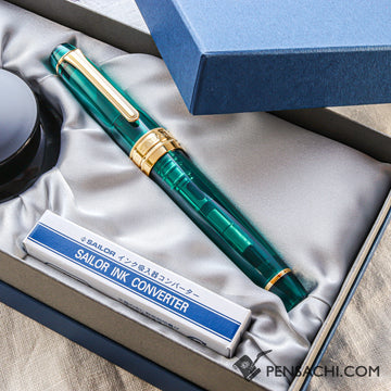 Limited Gift Set SAILOR KOP Pro Gear Fountain Pen - Teal Green - PenSachi Japanese Limited Fountain Pen