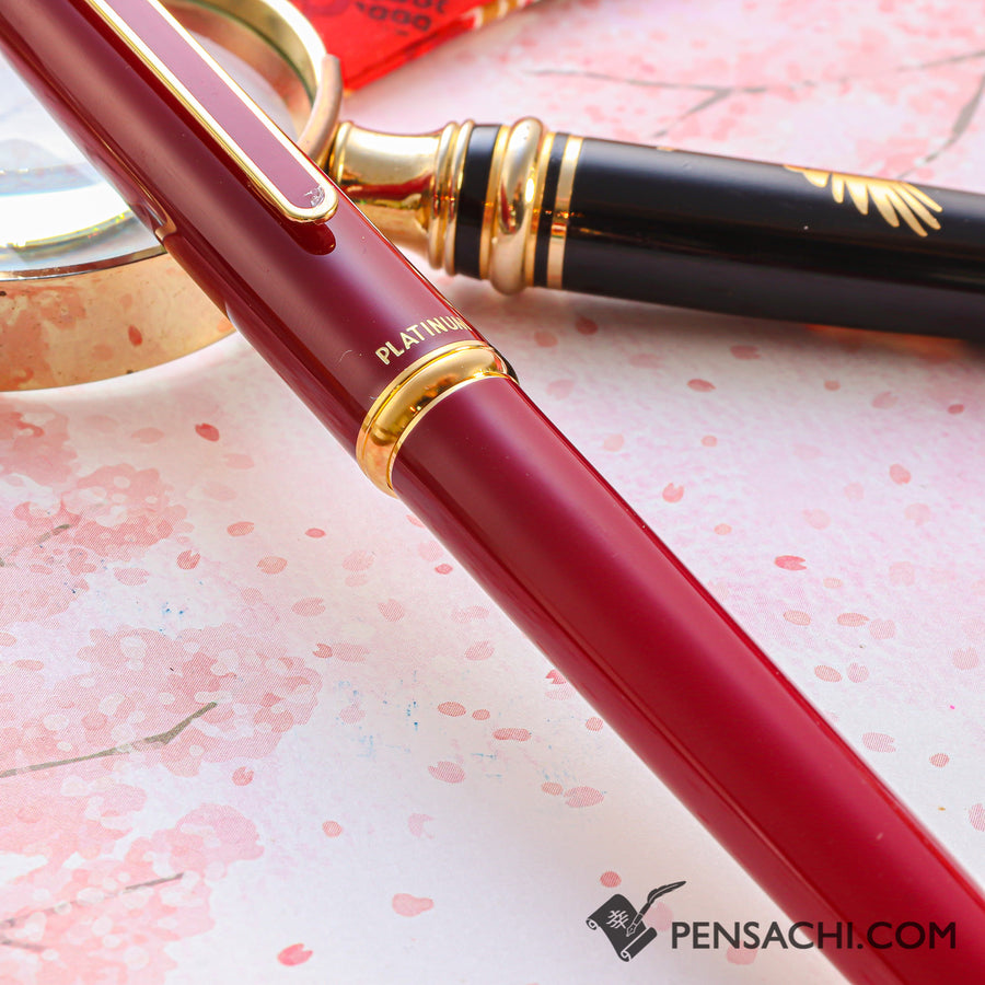 PLATINUM Standard Fountain Pen - Red - PenSachi Japanese Limited Fountain Pen
