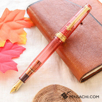 SAILOR Limited Edition Pro Gear Slim (Sapporo) Demonstrator Fountain Pen - Sunrise Orange - PenSachi Japanese Limited Fountain Pen