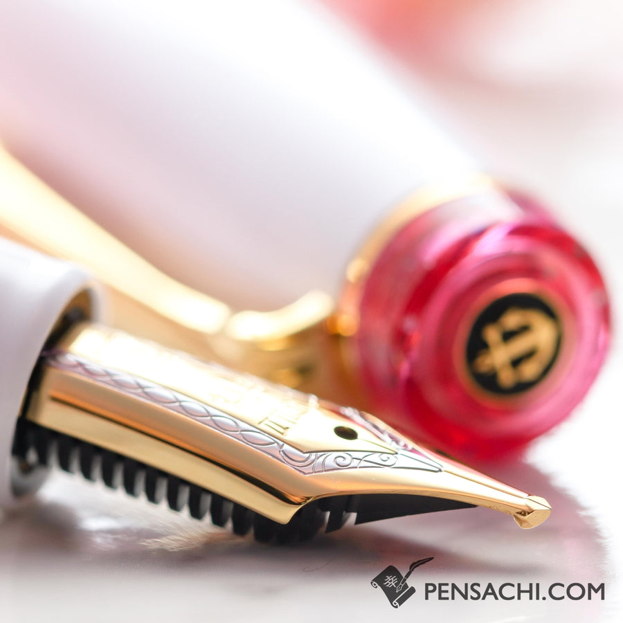SAILOR Limited Edition Pro Gear Classic Demonstrator Fountain Pen - Sparkling Rose Pink - PenSachi Japanese Limited Fountain Pen