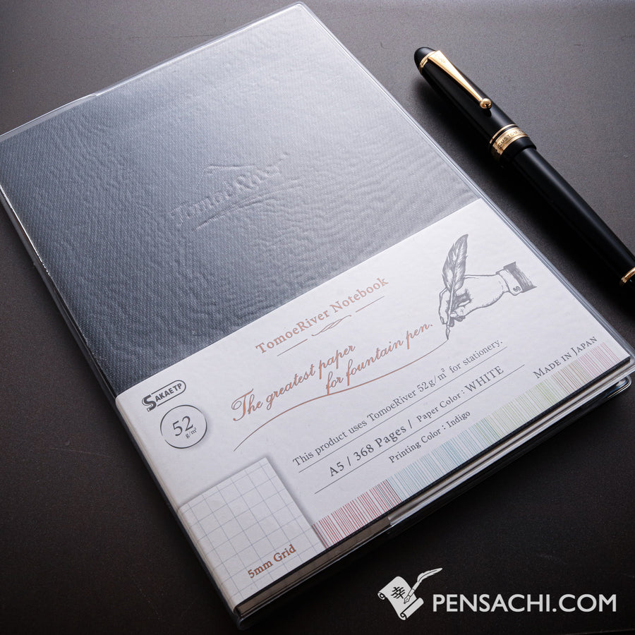 Tomoe River FP A5 Notebook (368 pages) - Graph 5mm - PenSachi Japanese Limited Fountain Pen