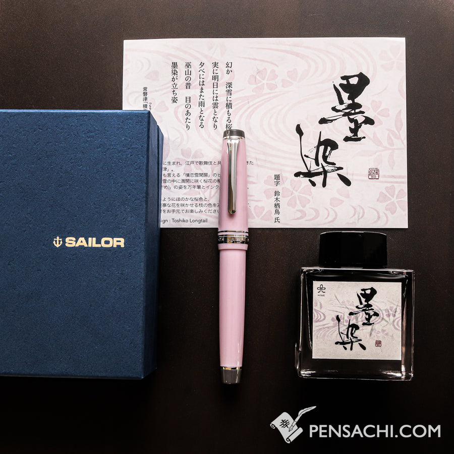 SAILOR Limited Edition Pro Gear Classic Fountain Pen Set - Sumi-zome - PenSachi Japanese Limited Fountain Pen