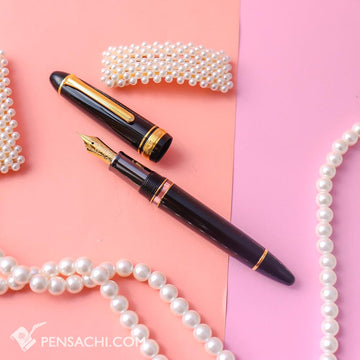 SAILOR Limited Edition 1911 Large (Full size) Realo Fountain Pen - Black Metal Grip - PenSachi Japanese Limited Fountain Pen