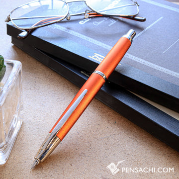 PILOT Limited Edition Vanishing Point Capless Decimo Fountain Pen - Orange - PenSachi Japanese Limited Fountain Pen