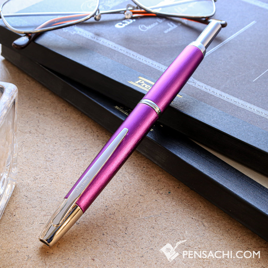 PILOT Limited Edition Vanishing Point Capless Decimo Fountain Pen - Purple - PenSachi Japanese Limited Fountain Pen
