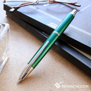 PILOT Limited Edition Vanishing Point Capless Decimo Fountain Pen - Dark Green - PenSachi Japanese Limited Fountain Pen