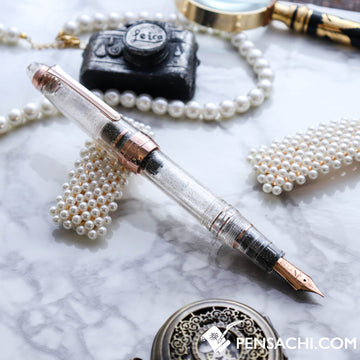 SAILOR Limited Edition 1911 Large (Full size) Realo Demonstrator Fountain Pen - Sparkling Clear Transparent - PenSachi Japanese Limited Fountain Pen