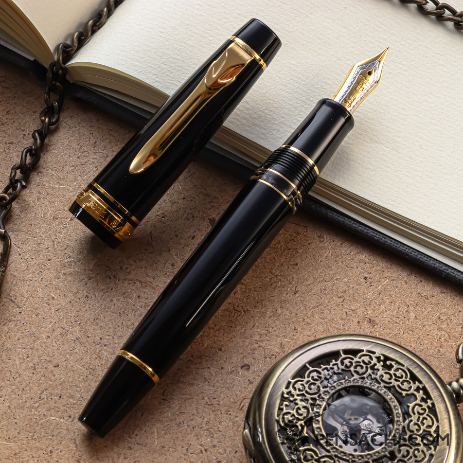 SAILOR Pro Gear II (Sigma) Realo Fountain Pen - Black - PenSachi Japanese Limited Fountain Pen