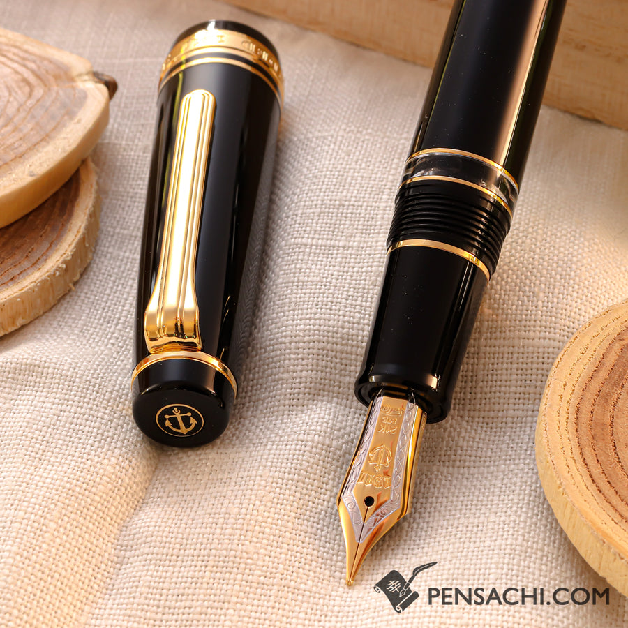 SAILOR Pro Gear Classic Realo Fountain Pen - Black - PenSachi Japanese Limited Fountain Pen