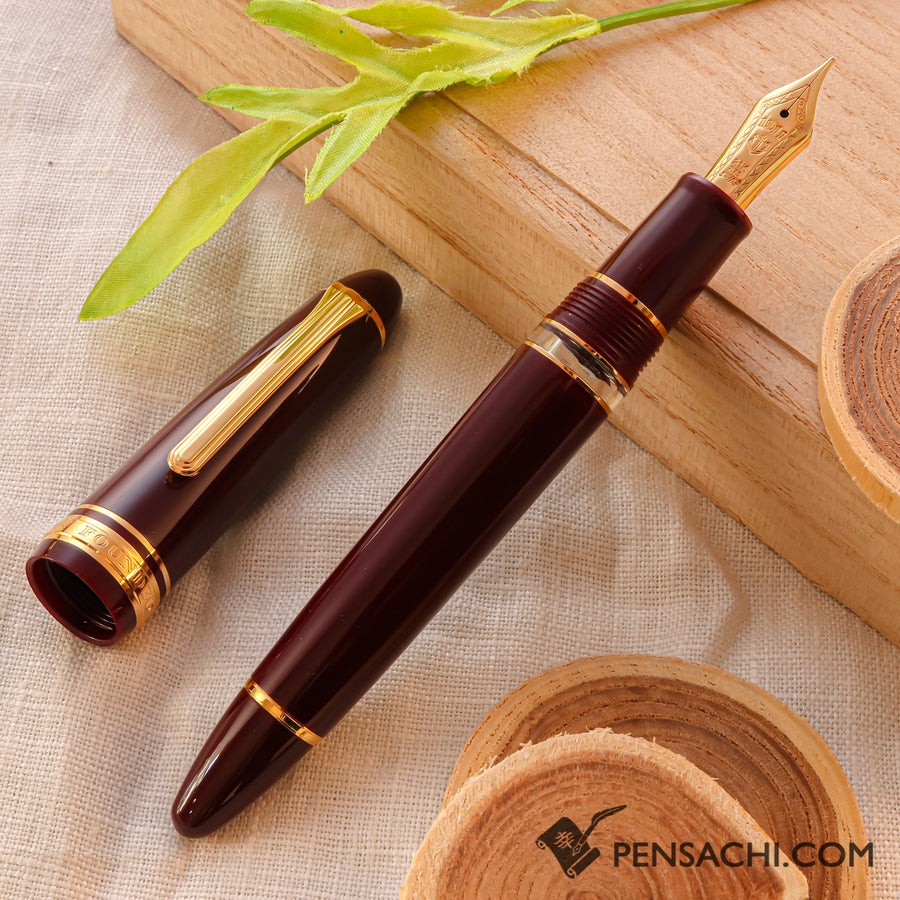 SAILOR 1911 Large (Full size) Realo Fountain Pen - Wine Red - PenSachi Japanese Limited Fountain Pen