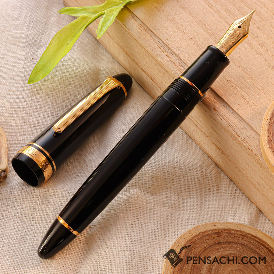 SAILOR 1911 Large (Full size) Fountain Pen - Black Gold For Lefties - PenSachi Japanese Limited Fountain Pen
