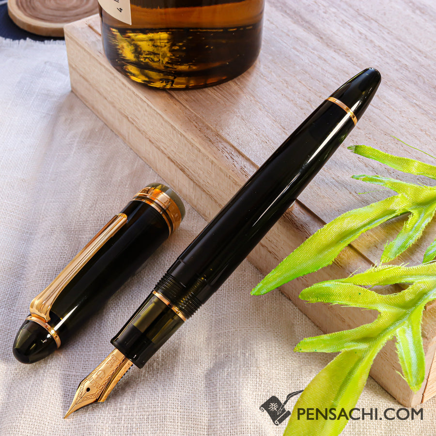 SAILOR Limited Edition 1911 Large (Full size) Demonstrator Fountain Pen - Dark Green - PenSachi Japanese Limited Fountain Pen