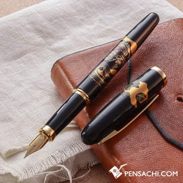 PLATINUM Modern Maki-e Vicoh Soryu Fountain Pen - Black - PenSachi Japanese Limited Fountain Pen