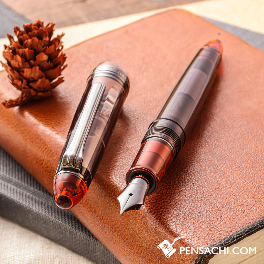 SAILOR 1911 Standard (Mid size) Black Rhodium Demonstrator - Heritage Sunset - PenSachi Japanese Limited Fountain Pen