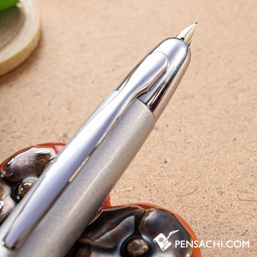 PILOT Vanishing Point Capless Special Alloy Fountain Pen - Silver - PenSachi Japanese Limited Fountain Pen