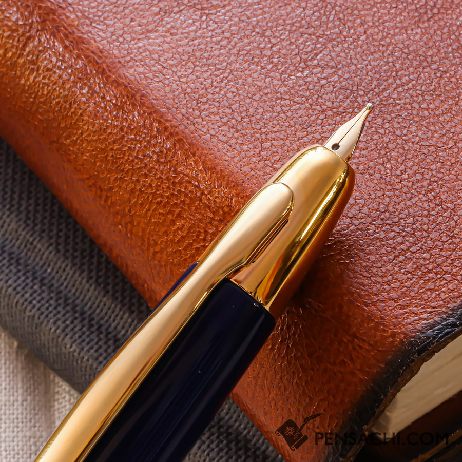 PILOT Vanishing Point Capless Gold Fountain Pen - Dark Blue - PenSachi Japanese Limited Fountain Pen