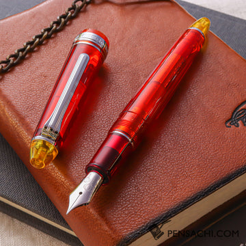 SAILOR 1911 Standard (Mid size) Demonstrator - Lantern Vermilion - PenSachi Japanese Limited Fountain Pen