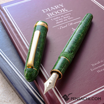 PLATINUM #3776 Century Celluloid Fountain Pen - Emerald - PenSachi Japanese Limited Fountain Pen