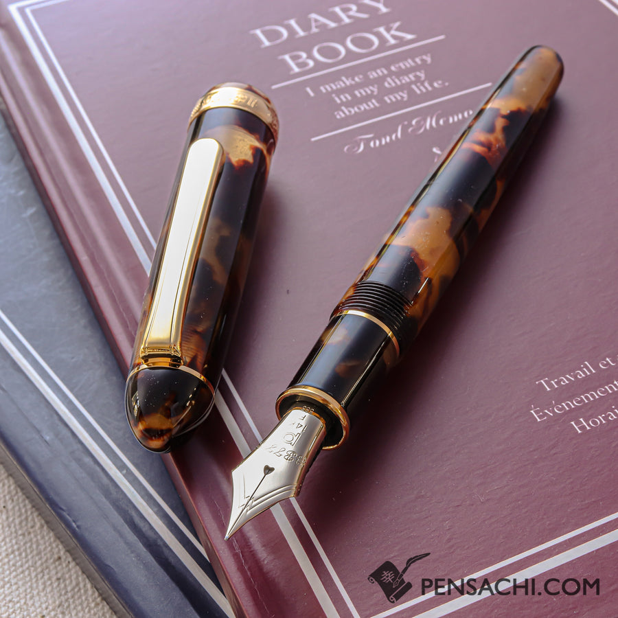 PLATINUM #3776 Century Celluloid Fountain Pen - Bekkou Tortoiseshell - PenSachi Japanese Limited Fountain Pen