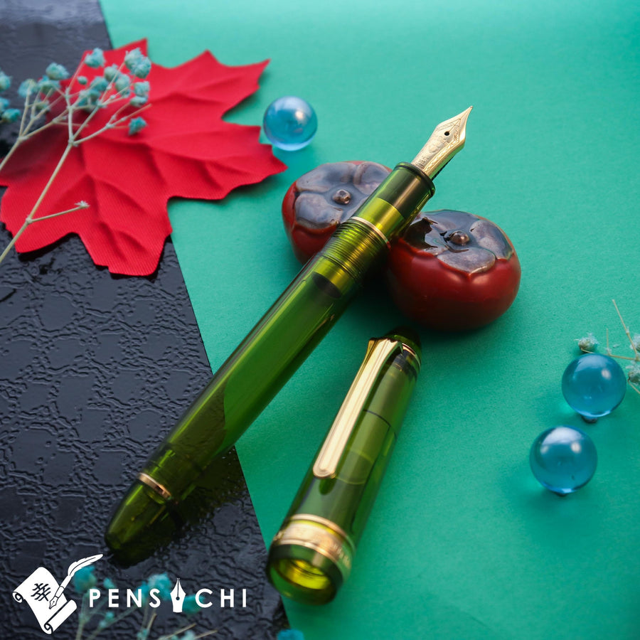 SAILOR Limited Edition 1911 Standard (Mid size) Demonstrator Fountain Pen - Fresh Green - PenSachi Japanese Limited Fountain Pen