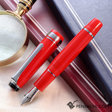 SAILOR Limited Edition Pro Gear Mini Slim Fountain Pen - Red - PenSachi Japanese Limited Fountain Pen