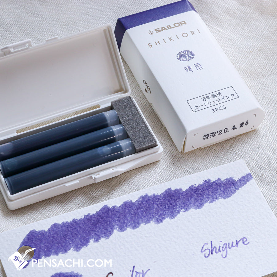 Sailor Shikiori Ink Cartridges - PenSachi Japanese Limited Fountain Pen