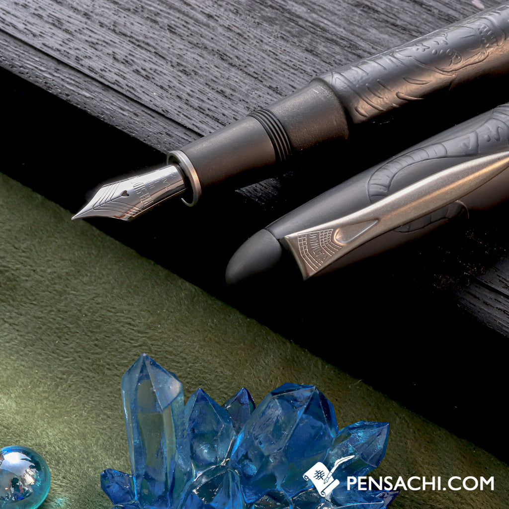 PLATINUM Izumo Shikkoku Fountain Pen - Tiger in Bamboo Forest - PenSachi Japanese Limited Fountain Pen