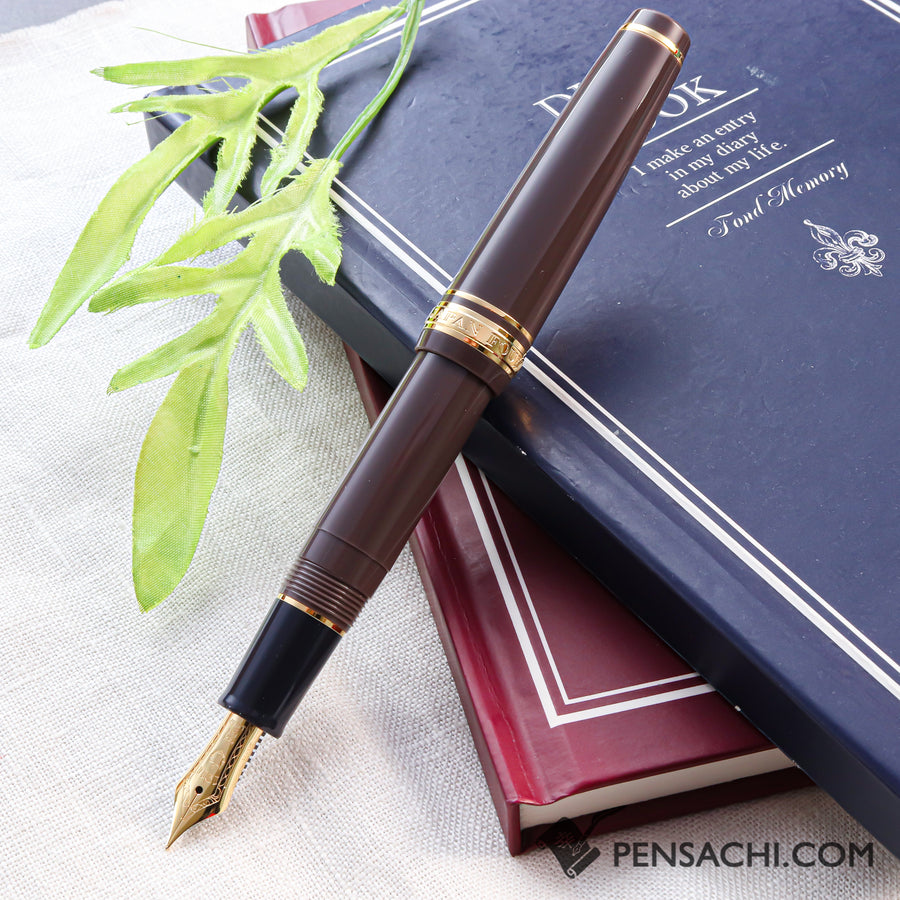 SAILOR Pro Gear Slim Mini Fountain Pen - Taupe - PenSachi Japanese Limited Fountain Pen
