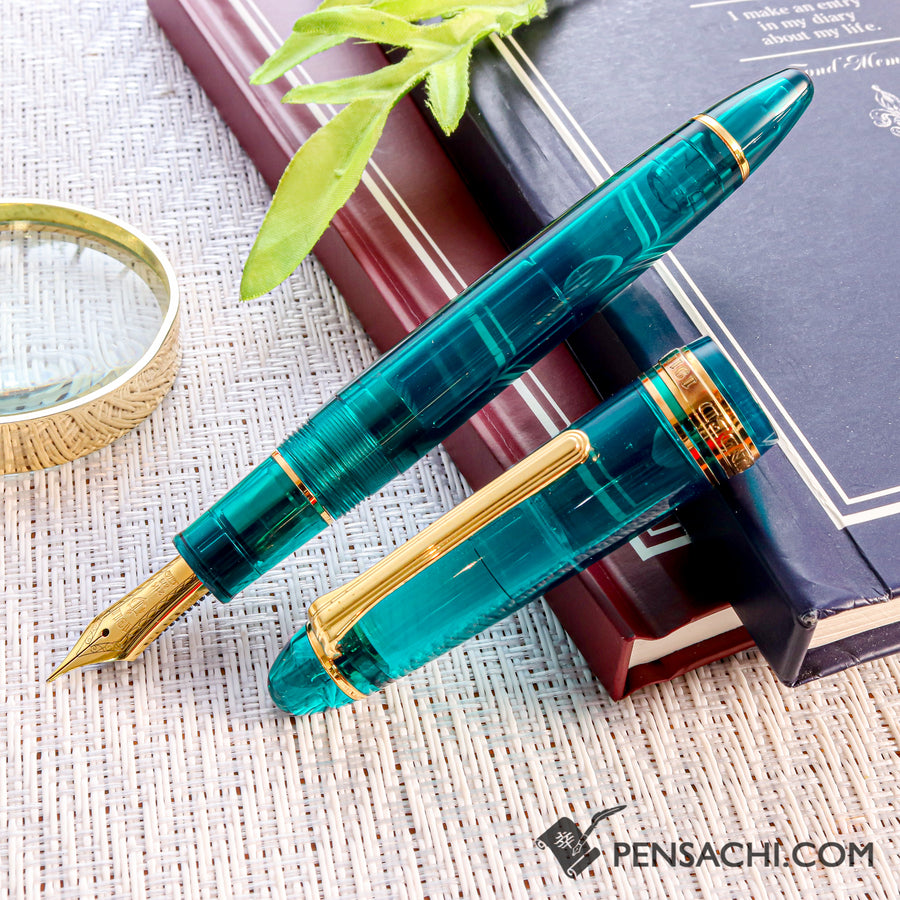 SAILOR Limited Edition 1911 Large (Full size) Demonstrator Fountain Pen - Teal Green - PenSachi Japanese Limited Fountain Pen
