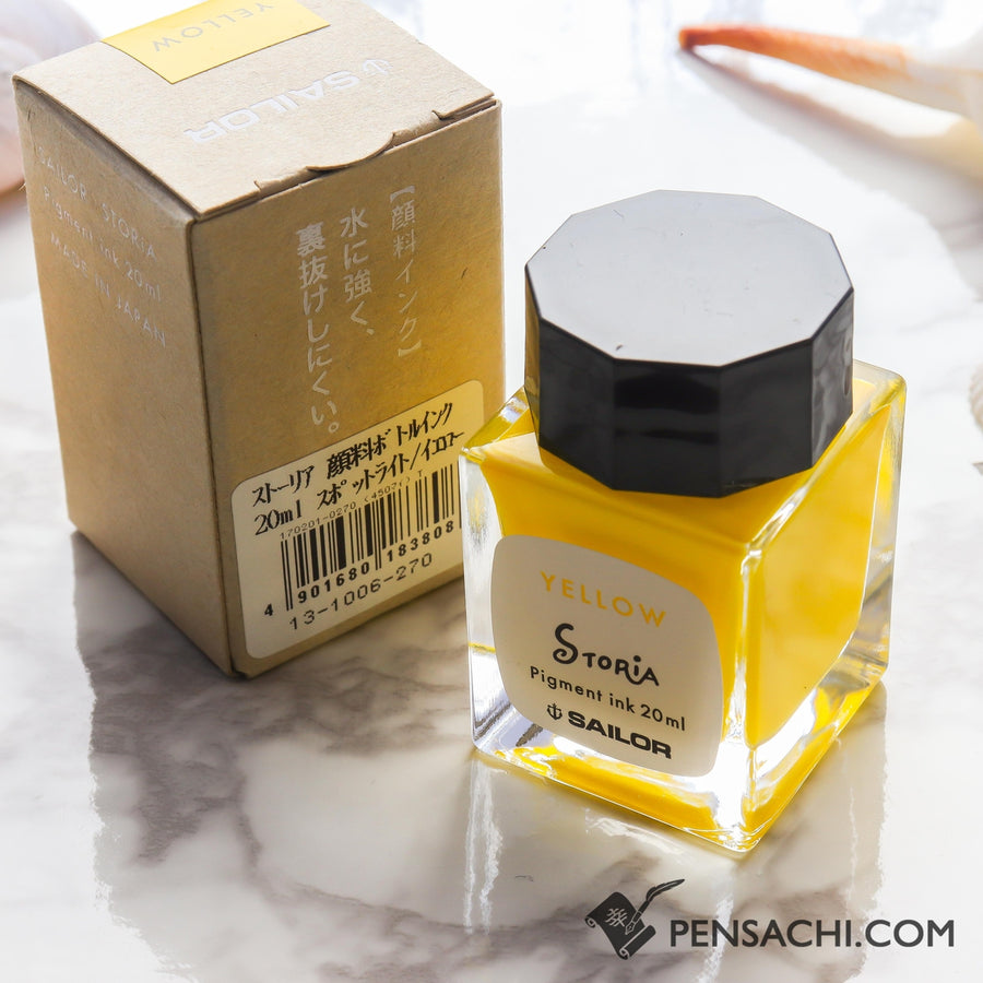 Sailor Storia Ink Yellow - Spotlight 20ml - PenSachi Japanese Limited Fountain Pen