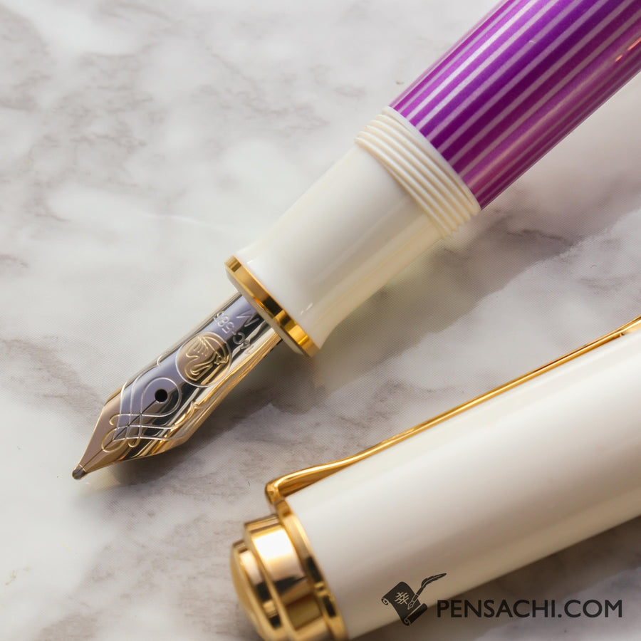 PELIKAN Souveran M600 Fountain Pen - Violet White - PenSachi Japanese Limited Fountain Pen
