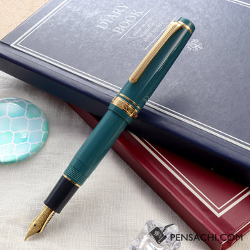 SAILOR Pro Gear Slim Mini Fountain Pen - Slate Green - PenSachi Japanese Limited Fountain Pen