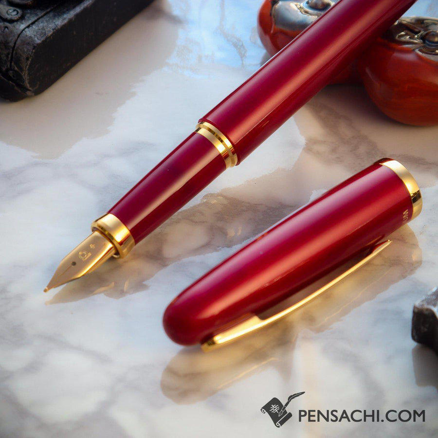 PLATINUM Balance Fountain Pen - Wine Red - PenSachi Japanese Limited Fountain Pen
