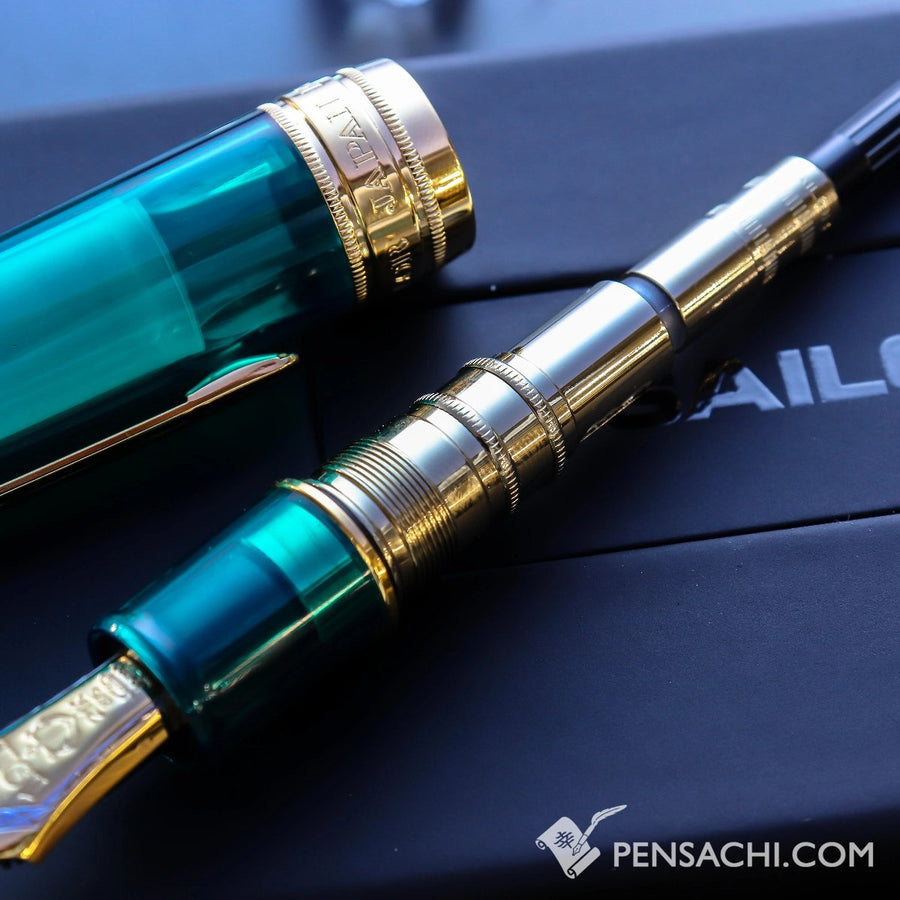 SAILOR King of Pen Pro Gear Fountain Pen - Teal Green - PenSachi Japanese Limited Fountain Pen