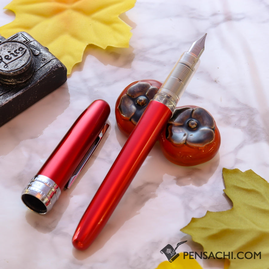 PLATINUM Plaisir Fountain Pen - Red - PenSachi Japanese Limited Fountain Pen