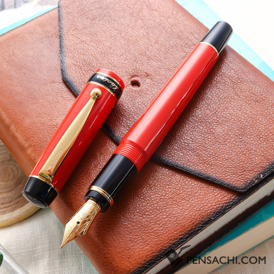 Pilot Lucina Fountain Pen - Red - PenSachi Japanese Limited Fountain Pen