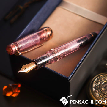 SAILOR Limited Edition Professional Gear Classic Realo Demonstrator Fountain Pen - Sparkling Matte Pink - PenSachi Japanese Limited Fountain Pen
