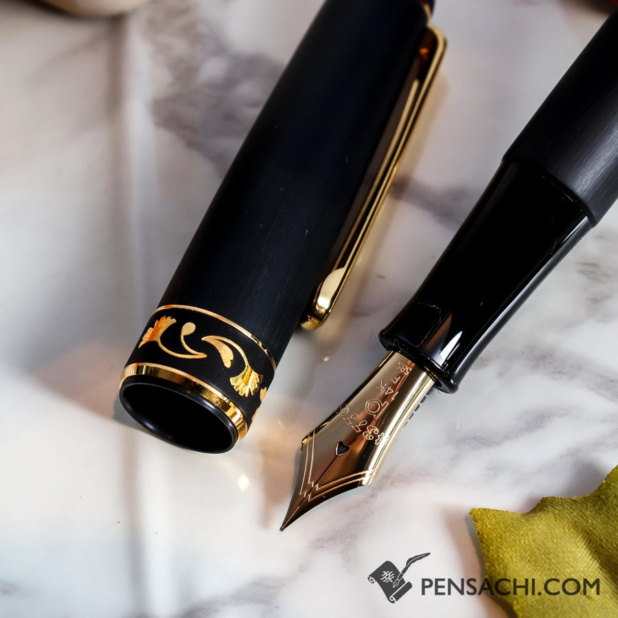 PLATINUM #3776 Century Higo Zogan Fountain Pen - Ichou Ginkgo - PenSachi Japanese Limited Fountain Pen