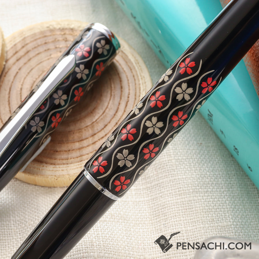PILOT Hira Makie Fountain Pen - Sakura Tatewaku - PenSachi Japanese Limited Fountain Pen