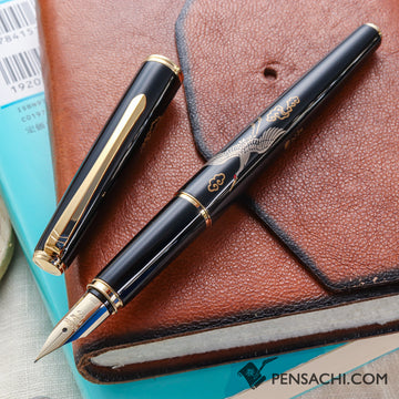 PILOT Hira Makie Fountain Pen - Crane - PenSachi Japanese Limited Fountain Pen