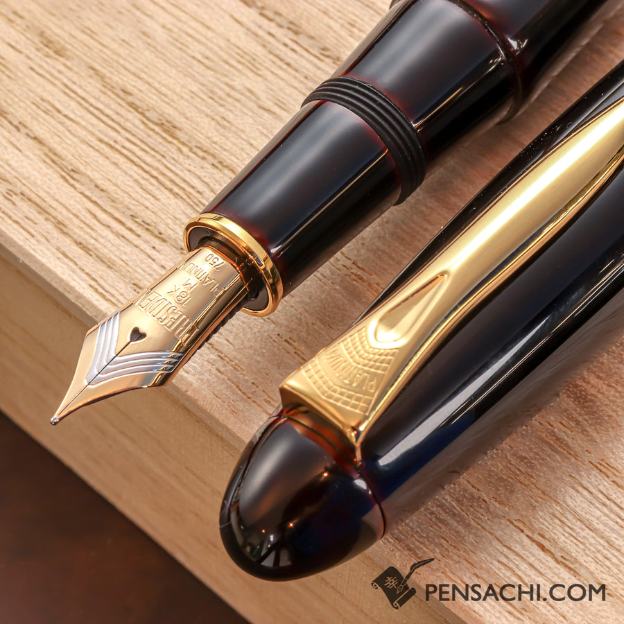 PLATINUM Izumo Tamenuri Fountain Pen - Akatame - PenSachi Japanese Limited Fountain Pen