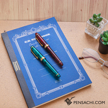 Premium C.D. Notebook B5 Blue - 7mm - Ruled, 30 lines - PenSachi Japanese Limited Fountain Pen