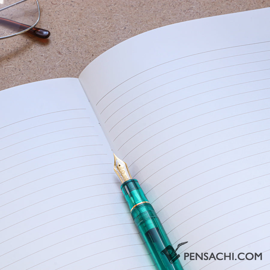 Premium C.D. Notebook A5 Blue - 7mm - Ruled,  24 lines - PenSachi Japanese Limited Fountain Pen
