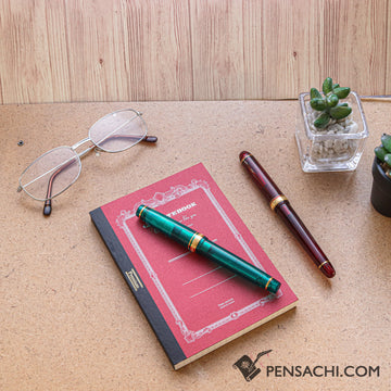 Premium C.D. Notebook A6 Red - 5mm Graph - PenSachi Japanese Limited Fountain Pen